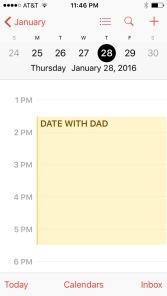First date - calendar
